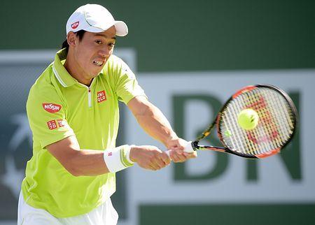 男子シングルス2回戦でリターンショットを放つ錦織圭=14日、米カリフォルニア州インディアンウェルズ(AFP=時事) ▼15Mar2015時事通信 錦織、3回戦へ=男子テニス http://www.jiji.com/jc/zc?k=201503/2015031500023 #錦織圭 #Kei_Nishikori