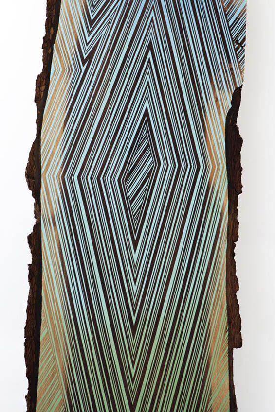 Geometric paintings on wood by Jason Middlebrook