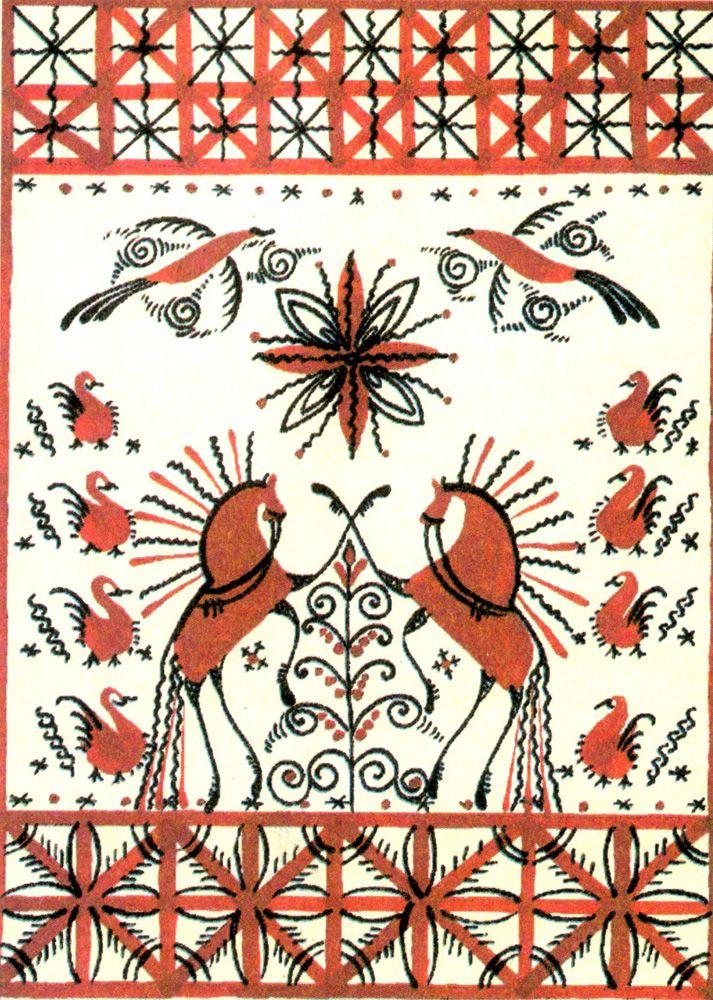 Картинки по запросу мезенская роспись