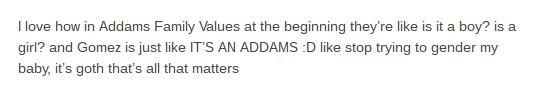 Addams Family Baby