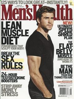 Mens Health magazine Liam Hemsworth Lean muscle diet Testosterone boosters Sex