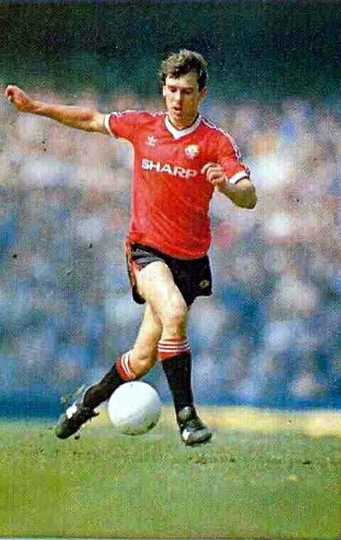 Bryan Robson of Man Utd in 1982.