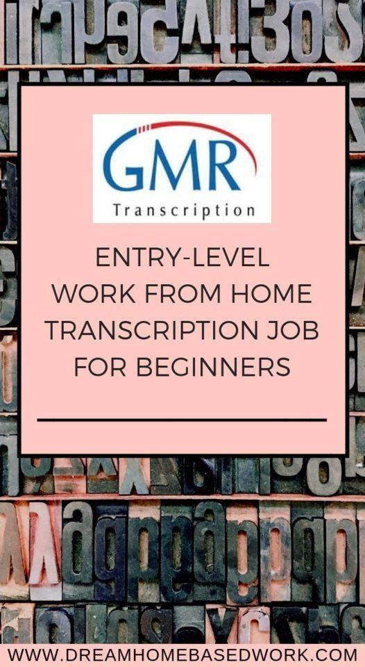 GMR Transcription: Work from Home Transcription Job for Beginners