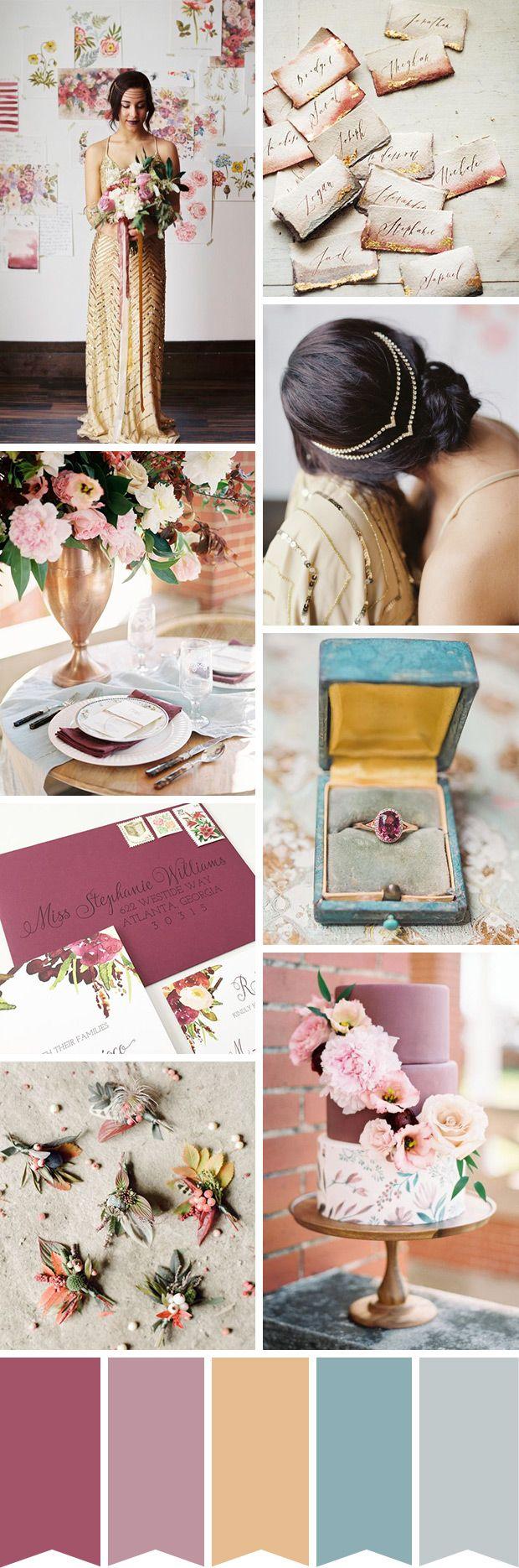 A Glistening Floral Inspired Wedding // www.onefabday.com