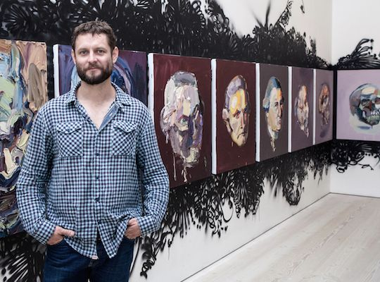 """Ben Quilty """"For me, It's about the organic nature of hand-eye coordination and about building up a visual language with which you might respond to the world politically, socially and environmentally. """" http://ocula.com/magazine/conversations/ben-quilty/"""