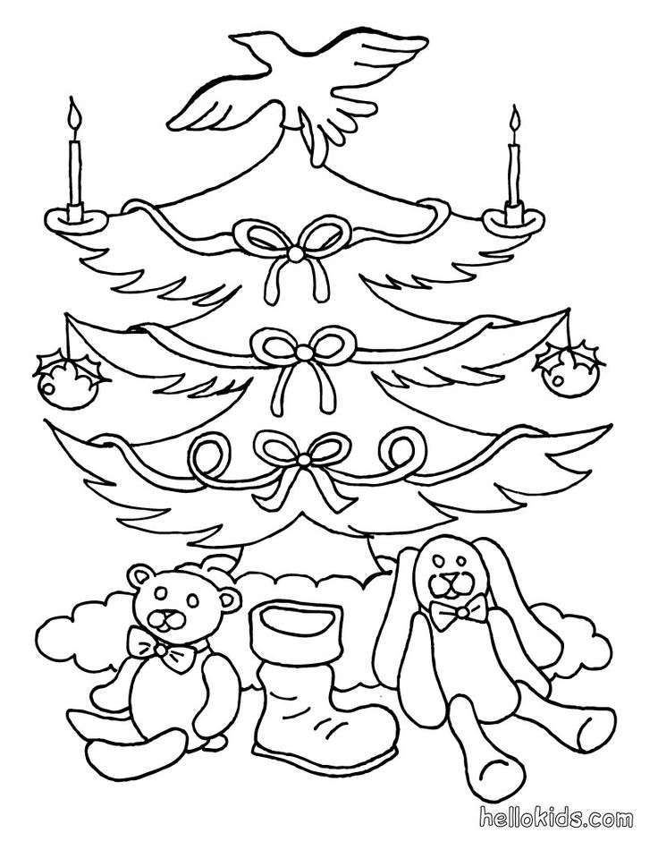 IColor Christmas Trees Tree Coloring PageOld