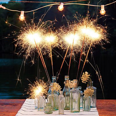 shining centerpiece4Thofjuly, Southern Living, Crafts Ideas, Fourth Of July, July 4Th Recipe, 4Th Of July, Wedding Sparklers, Centerpieces, Food Recipe