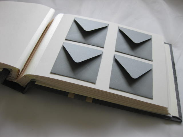 pewter mini envelopes.11x7 size mini envelope wish book.  (could also be used for showers!)