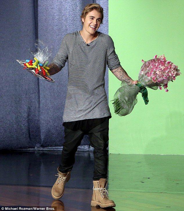 On the charm offensive: Justin Bieber surprised Ellen DeGeneres on her show