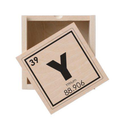 Yttrium Chemical Element Symbol Chemistry Formula Wooden Keepsake