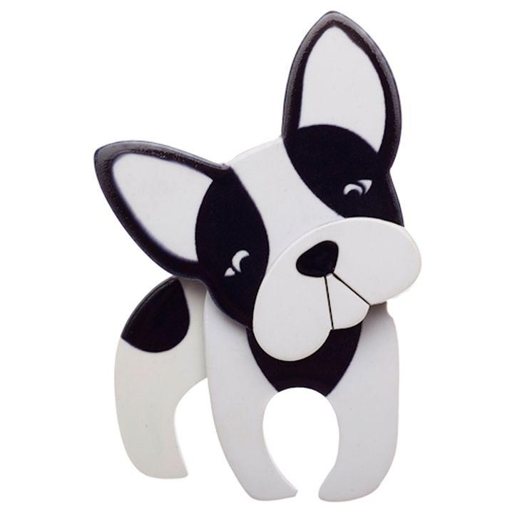Erstwilder: Fabian the French Bulldog Brooch - hardtofind.