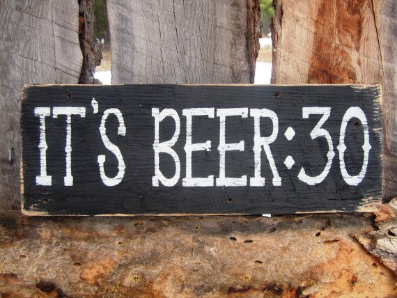 Beer Sign Beer30 Sign Man Cave Sign Bar Sign by BearlyInMontana, $23.00. I know who I would gift this too but would also love on in our home!