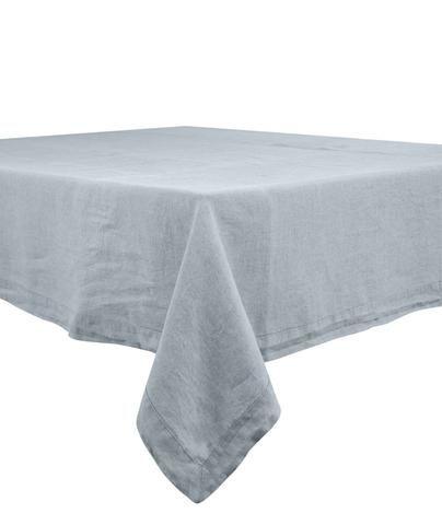 Harmony - Nappe en lin rectangulaire Nais gris-silex - 100% lin lave - 170x250 cm