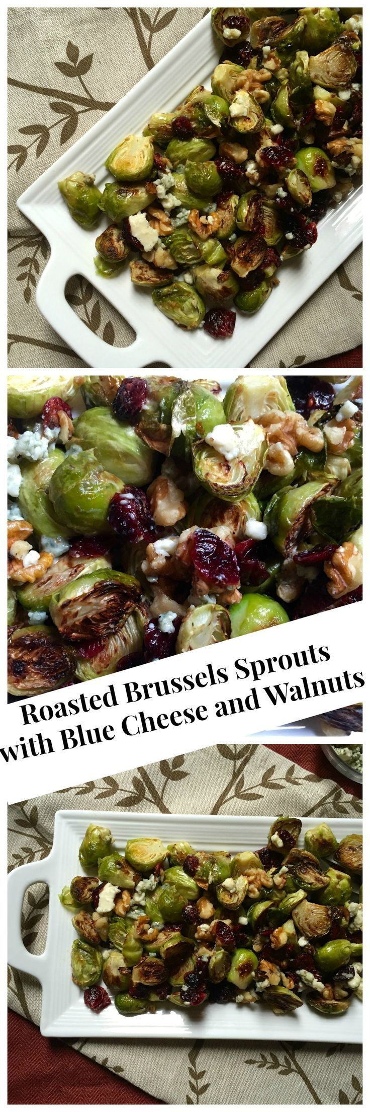 Roasted Brussels Sprouts with Blue Cheese and Walnuts: the perfect side dish for the holidays // A Cedar Spoon