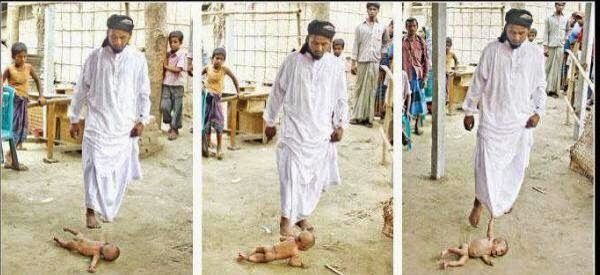 Pinner: LiveLeak.com - Picture.. Leader of ISIS and brutally killing baby with Christian parents. We should just nuke these assholes and be done with it.