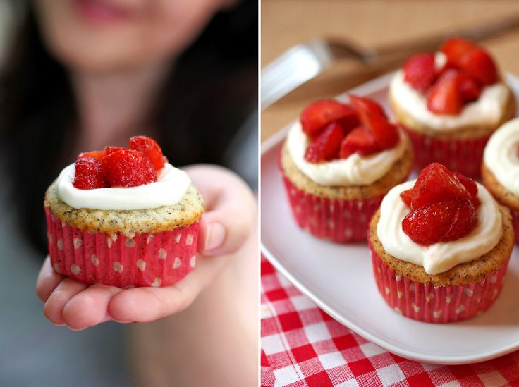 Sommerliche Limetten-Mohn-Muffins mit Erdbeernest - Fee ist mein Name