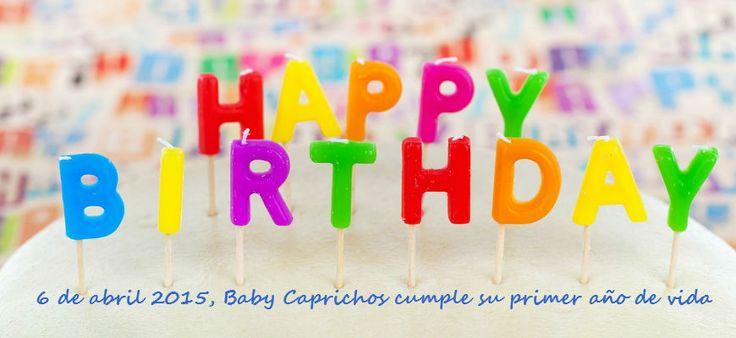 Mañana 6 de abril es NUESTRO PRIMER CUMPLEAÑOS. ¡Gracias a todos! Seguimos intentando mejorar día a día. http://www.babycaprichos.com/blog/1-cumpleanos/