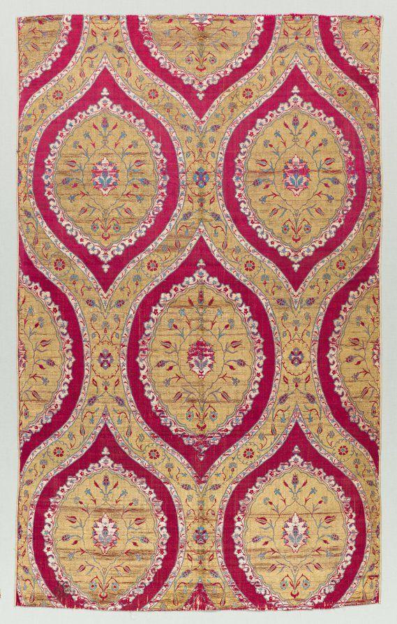 Brocaded Silk with Blossoms, Turkey, Bursa or Istanbul, Ottoman period, 16th century