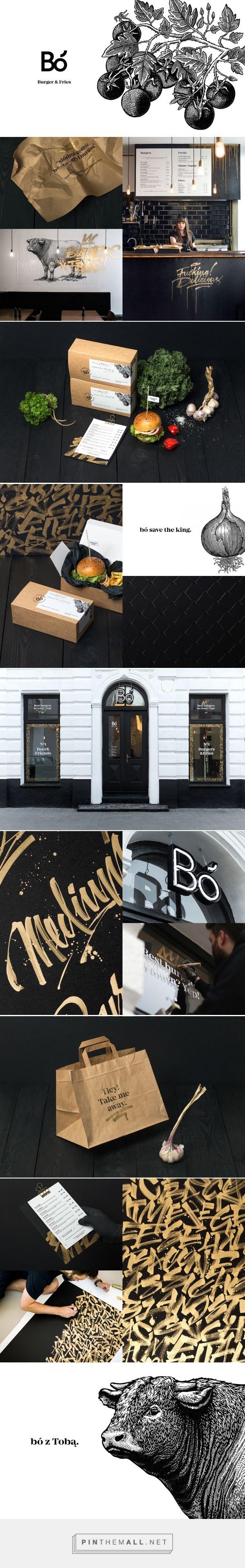 restaurants inspiration / branding   Bo Burger and Fries Restaurant Branding and Menu Design by Hopa Studio