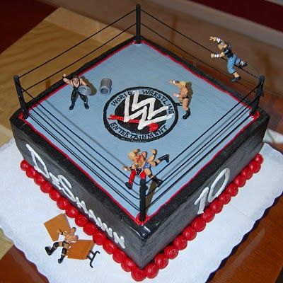 Sports, Colleges, and Graduation Cakes: WWE Wrestling Cake