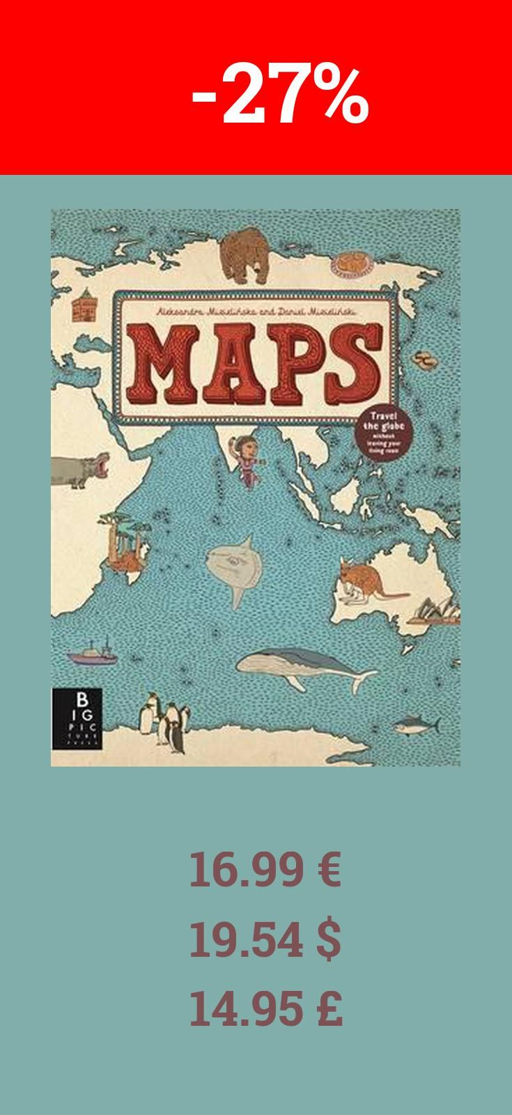 Have you read Maps already? If not definitely check it out. Right now it is 27% off bookdepository. The 52 illustrated maps in this book invite the reader on a journey of exploration around the world. Opening with an original style of contents page, consisting of a world map with countries labelled with the pages where information can be found, the atlas is divided into eight sections, looking at countries within each continent plus the Arctic and Antarctica. Not every country in, fro…