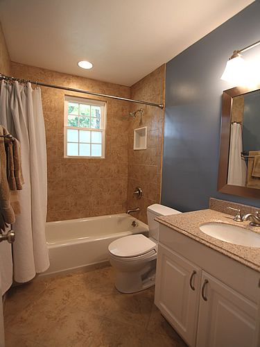 9 best images about rental bathroom on pinterest wall for New small bathroom