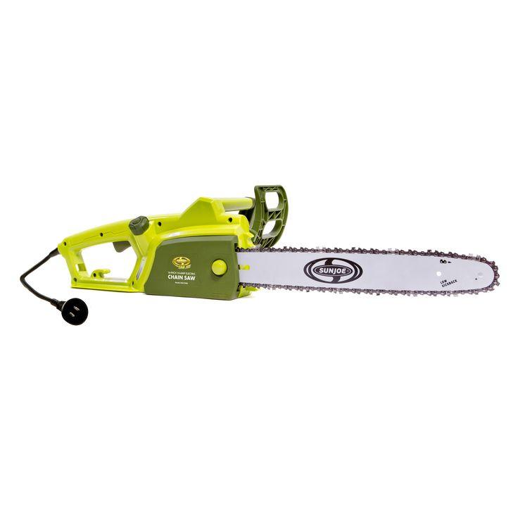 Sun Joe 16 Inch Electric Chainsaw, Green