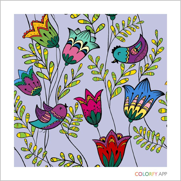 Beautiful flowes and birds by acarney0300 ! Colorfy your