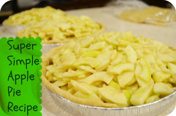 Super Simple Fresh Apple Pie Recipe - Freeze or Bake