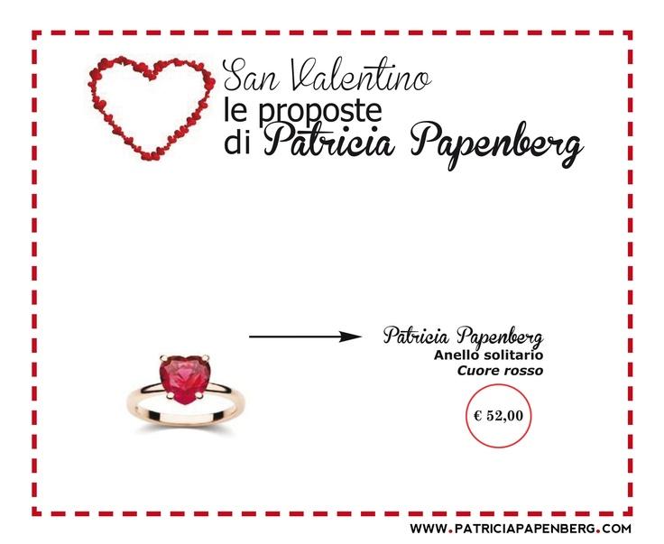 Anello Solitario Patricia Papenberg 'Cuore Rosso'  http://www.patriciapapenberg.com/it/ring-solitaire-patricia-papenberg-red-hearth  #ring #anello #sanvalentino #jewels #gioielli
