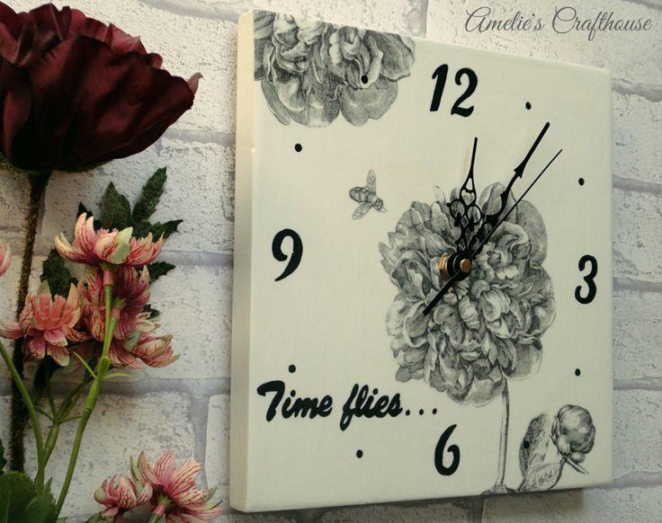 Clock Wedding Gift: 17 Best Ideas About Floral Clock On Pinterest