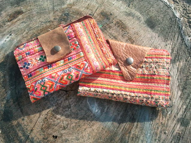 Small clutch Ibiza style for phone, cards or pasport  by Nova Dali.