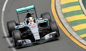 Lewis Hamilton during the third practice session at the Australian Grand Prix in Melbourne.