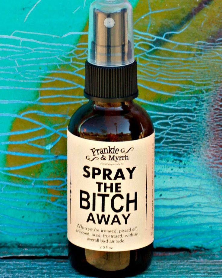 An aromatherapy spray or natural perfume for the inner bitch. Great for relieving PMS or other irritations.