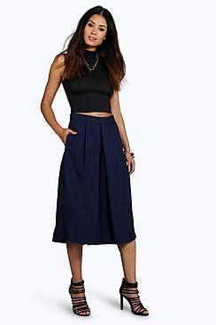 Aurera Pleat Front Wide Leg Tailored Culottes