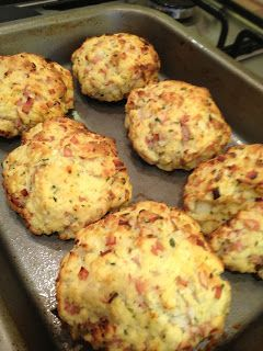 Slimming World Cheese, Ham and Onion Scones