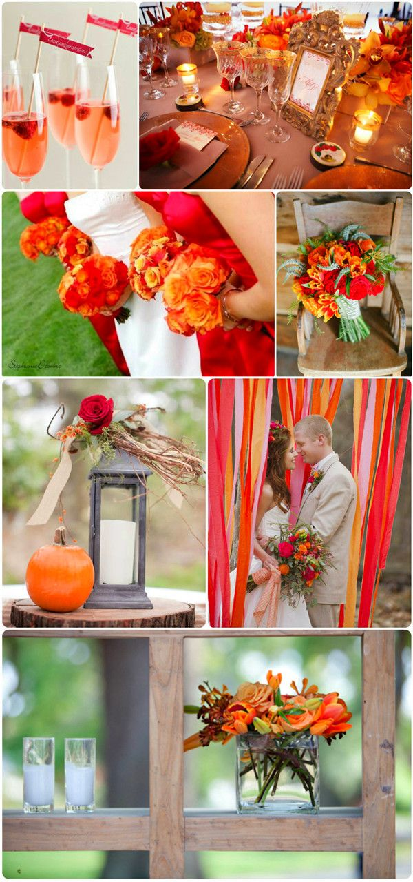 Fall Wedding Colors-Red and Orange
