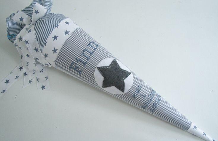 """Schultüte """"Stars and Stripes"""" von Atelier Kleeblatt auf DaWanda.com"""