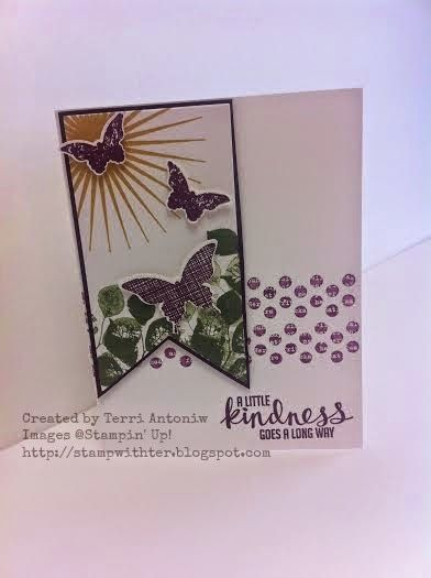 Kinda Eclectic Created by Terri Antoniw Images ©Stampin' Up! http://stampwithter.blogspot.com #stampwithter #watercoolerbloghop  August Wacky Watercooler Blog Hop