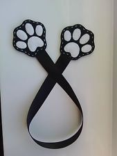 Handmade Felt Bookmark Love Pet Dog Puppy Cat Paws Black Mother's Day Birthday