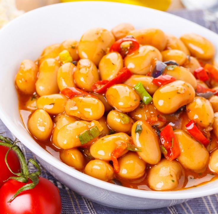 Weißer Bohneneintopf mit Paprika und Kartoffeln Tags: