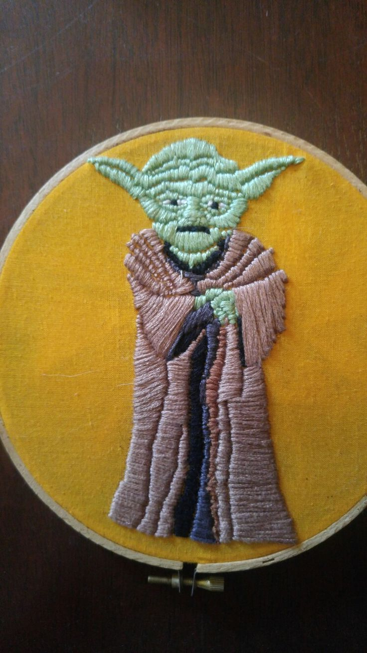 Yoda embroidery for Bren<3 I made years ago #starwars #yoda #embroidery #handmade #maythe4thbewithyou #ooak