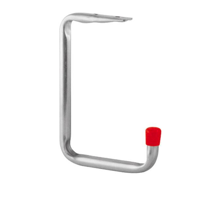 Wall Kroge / loft krog - galvaniseret - med røde endestykker