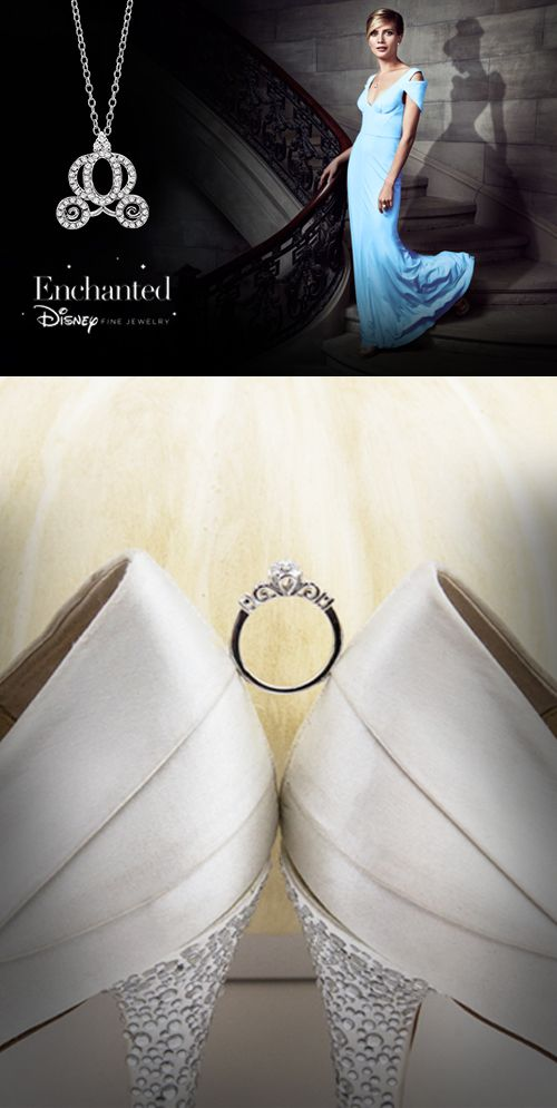 A dream is a wish your heart makes. Share what's in your heart with this new Cinderella Disney Enchanted ring. #helzberg #jewelry #Princess
