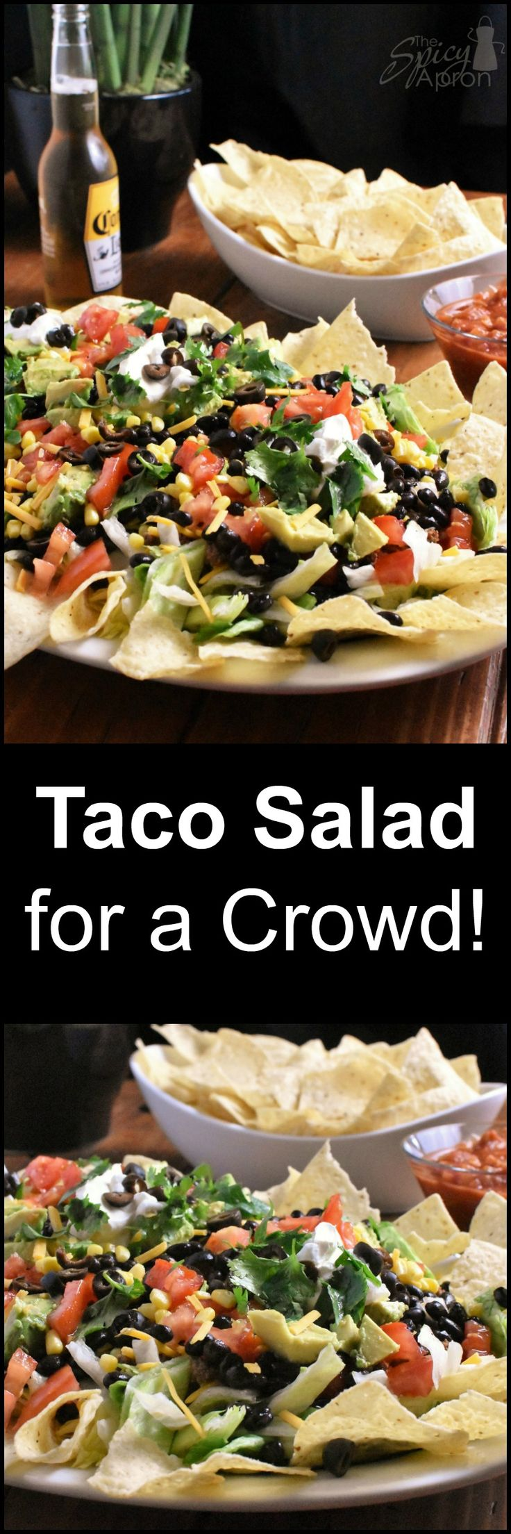 When you need to feed a crowd in a hurry! This Beefy Taco Salad does the trick! You won't believe how good (and easy) it is!