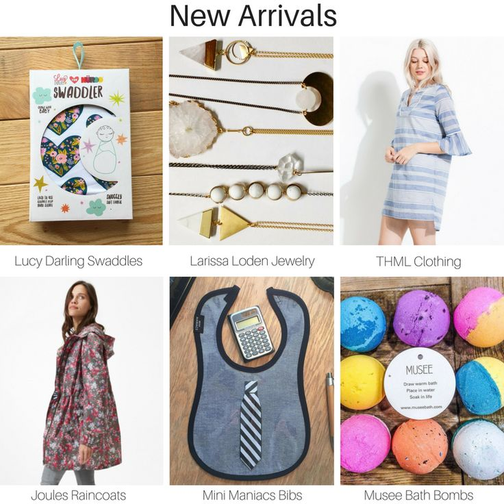 New #Spring Arrivals from some of our favorite vendors! Lucy Darling Shop, Larissa Loden Jewelry, THML Clothing, Joules USA, Mini Maniacs and Musee Bath  #NewArrivals #SpringFashion #ShopSmall #ShopLocal #MustHave #WhatsTrending