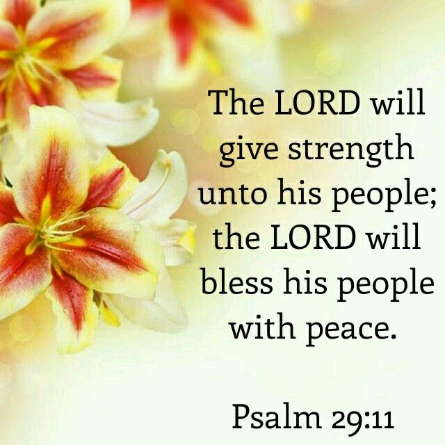 Psalm 29:11 KJV http://www.mwordsandthechristianwoman.com/