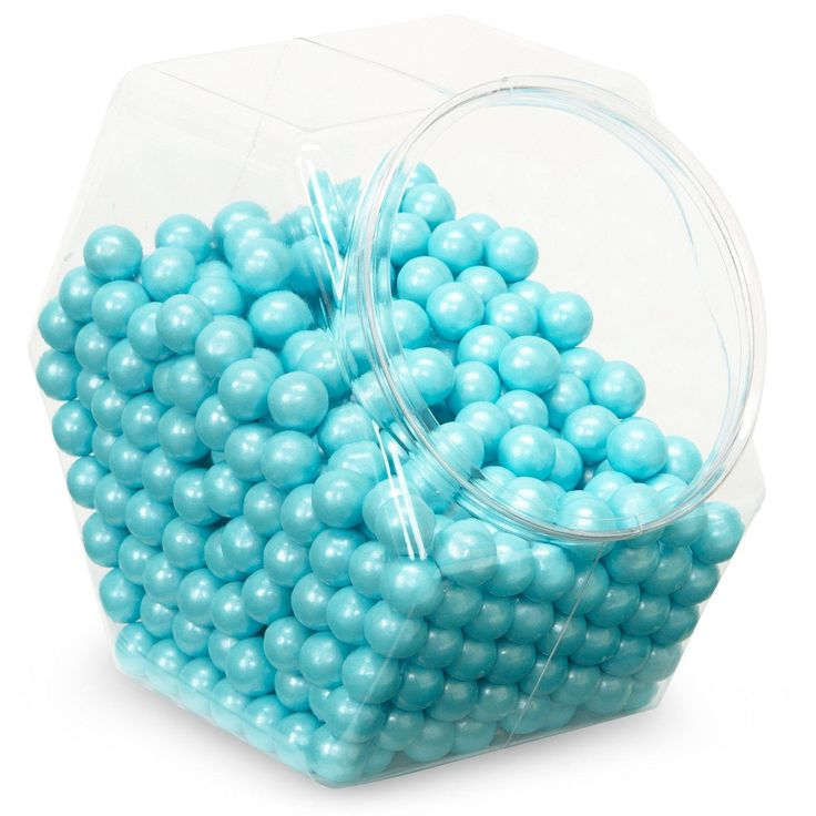 Shimmer Powder Blue Sixlets Candy from BirthdayExpress.com