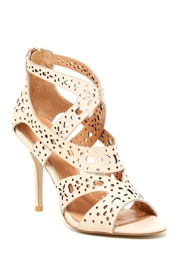 Badgley Mischka Konstance Laser Cut High Heel Sandal by Badgley Mischka on @HauteLook