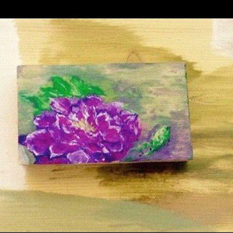 Just a flower. Wood,  gouache.